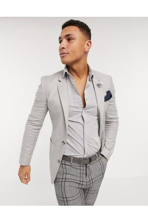 ASOS Wedding skinny linen blazer in