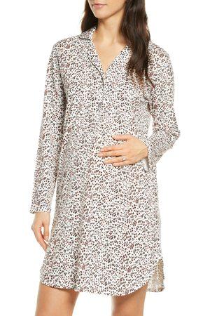 Belabumbum Women's Luxe Animal Print Maternity/nursing Nightshirt
