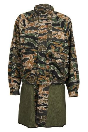 DRIES VAN NOTEN Camo parka
