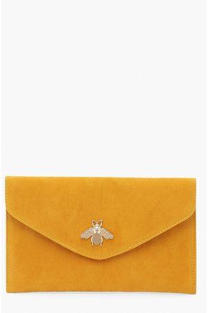 Boohoo Womens Metal Bug Envelop Clutch Bag - - One Size