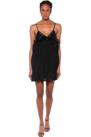 ACT N°1 Tulle & Feathers Mini Dress