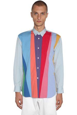 Comme des Garçons Striped Patchwork Cotton Poplin Shirt