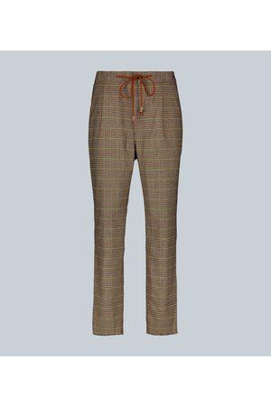 Nanushka Men Straight Leg Pants - Checked straight-leg pants