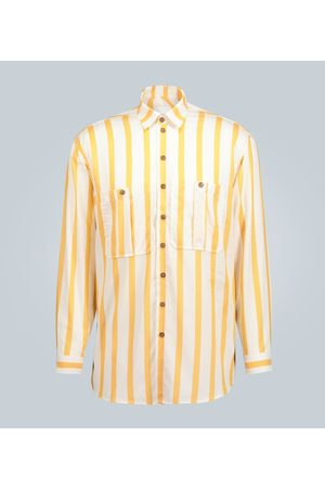 King and Tuckfield Men Shirts - Oversized striped shirt