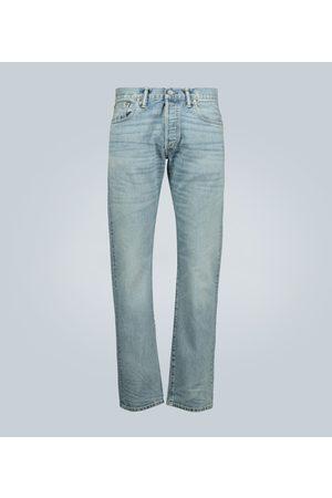 RRL Men Slim - Slim-fit light wash selvedge jeans