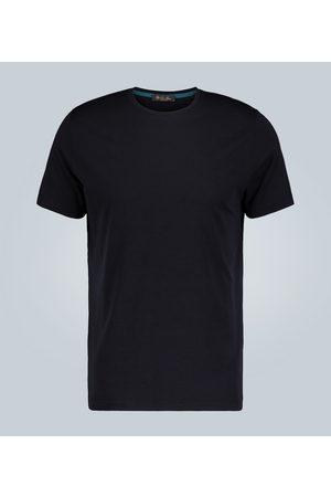 Loro Piana Men T-shirts - Silk and cotton-blend T-shirt