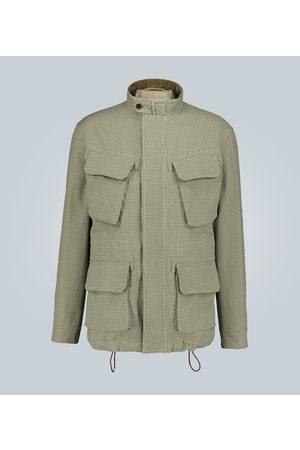 CARUSO Men Jackets - Checked cotton jacket
