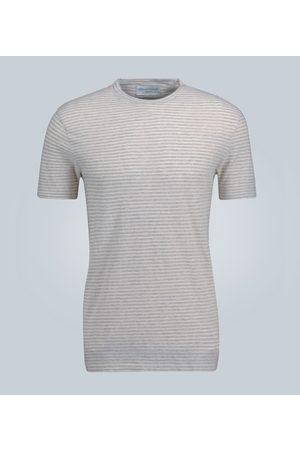 OFFICINE GENERALE Striped cotton T-shirt
