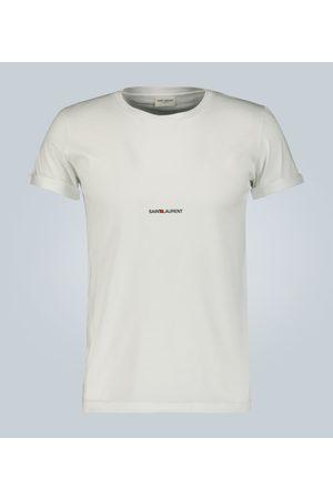 Saint Laurent Men T-shirts - Signature logo cotton T-shirt