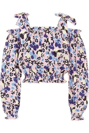 ALEXANDRA MIRO Gypsy floral cotton crop top