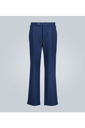 King and Tuckfield Straight-leg pleated pants