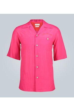 Alexander McQueen Camp-collar short-sleeved shirt