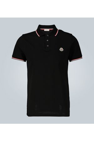 Moncler Contrast trimmed cotton polo shirt
