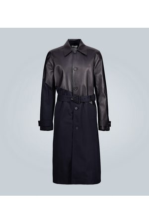 Bottega Veneta Leather and twill trench coat