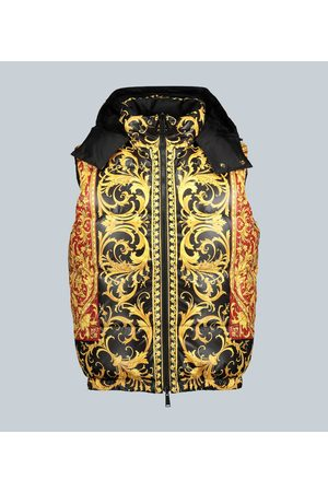 VERSACE Reversible down-filled gilet