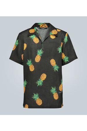 Dolce & Gabbana Pineapple printed linen shirt