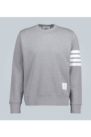 Thom Browne Striped-sleeve cotton sweatshirt