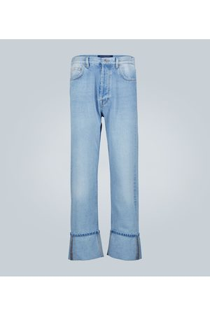 VALENTINO Maxi-cuff denim cotton jeans