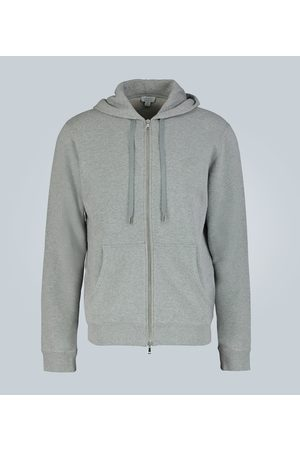 Sunspel Cotton-jersey hooded sweatshirt