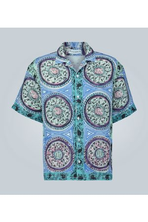 J.W.Anderson Printed short-sleeved linen shirt