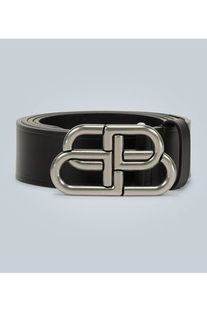 Balenciaga BB large leather belt