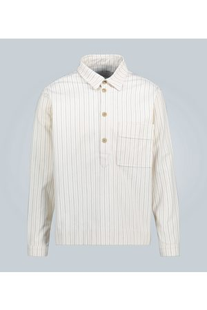 King and Tuckfield Striped relaxed-fit overshirt