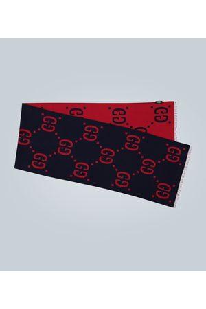 Gucci Men Scarves - GG jacquard wool-silk scarf