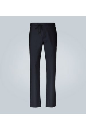 Maison Margiela Tailored drawstring wool formal pants