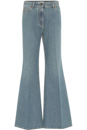 VALENTINO VLOGO high-rise flared jeans