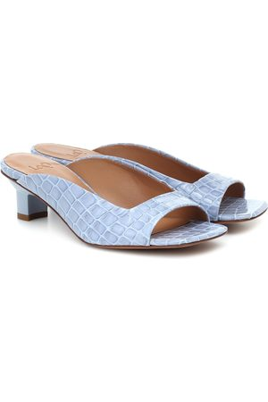 LOQ Parma croc-effect leather sandals