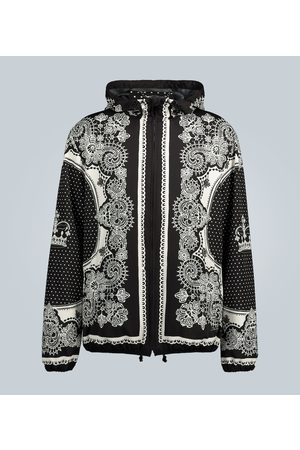 Dolce & Gabbana Nylon hooded jacket with bandana print