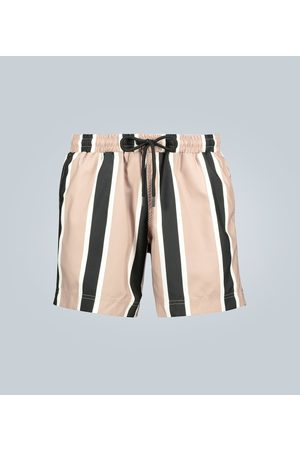 Commas Striped swim shorts