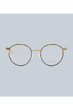 Bottega Veneta Round-frame metal glasses