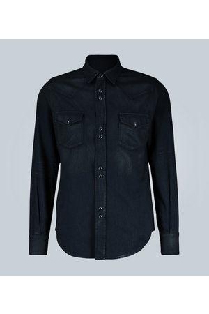 Saint Laurent Western-style denim shirt