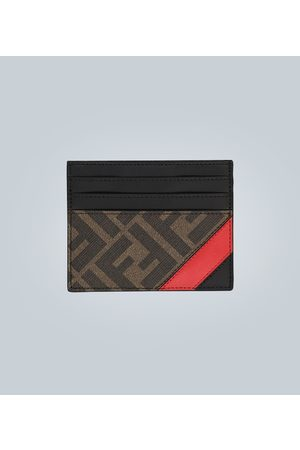 Fendi Logo leather cardholder