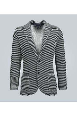 LARDINI Striped knitted cotton blazer