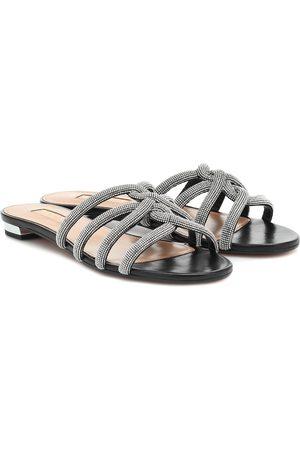 Aquazzura Moondust leather sandals