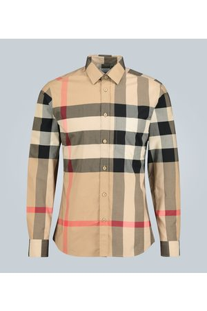 Burberry Check stretch-cotton shirt