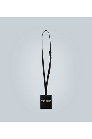 OFF-WHITE Quote leather key holder