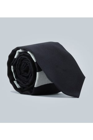 Thom Browne Wool tie with striped detail