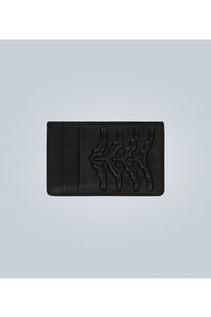 Alexander McQueen Rib Cage leather cardholder