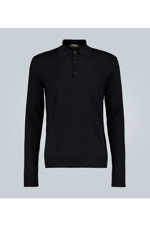 Bottega Veneta Long-sleeve wool knit polo