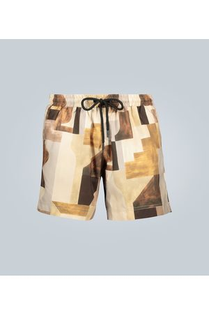 Commas Printed swim shorts