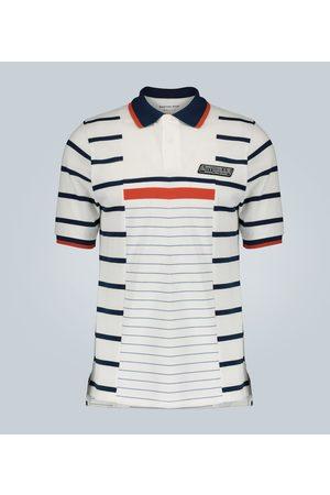 MARTINE ROSE Striped print polo shirt