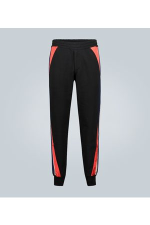 Alexander McQueen Block print cotton trackpants
