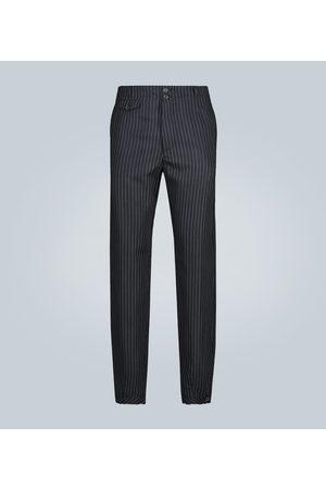 Rochas Wide-leg pinstripe wool pants