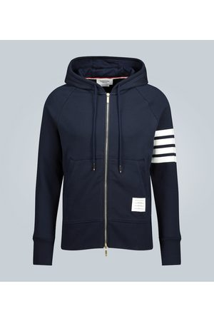 Thom Browne Striped-detail cotton hoodie
