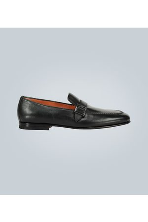 santoni Buckled leather loafers