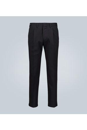 THE GIGI Pleated cotton-twill pants