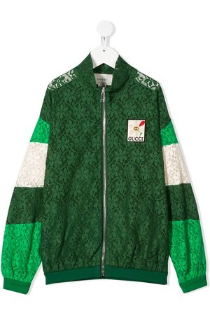 Gucci Floral lace bomber jacket